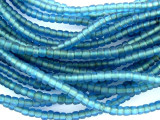 Transparent Blue Glass Trade Beads 3-4mm (AT405)
