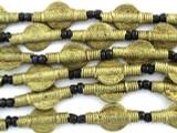 Brass Tabular Baule Beads 23mm (ME5655)