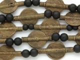 Brass Tabular Baule Beads 30mm (ME5656)