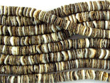 Baby Oyster Shell Heishi Beads 4-5mm - 2 foot strand (SH493)