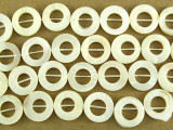 Mother of Pearl Donut Shell Beads 14mm (SH501)