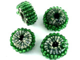 Green Beaded Felt Donut - Afghanistan 22mm (AF1382)
