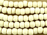Natural Irregular Round Bone Beads 6mm (B9047)