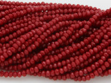 Brick Red Crystal Glass Beads 2mm (CRY20)