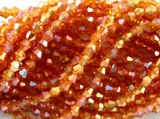Light Orange Bicone Crystal Glass Beads 4mm (CRY37)