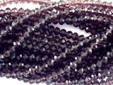 Transparent Purple Crystal Glass Beads 4mm (CRY47)