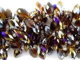 Smoky Jeweltone Crystal Glass Beads 12mm (CRY117)