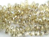 Champagne Crystal Glass Beads 12mm (CRY122)