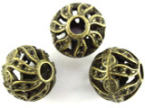 Brass Pewter Bead - Round 15mm (PB382)