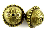 Brass Pewter Bead - Saucer 22mm (PB389)