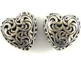 Pewter Bead - Heart 19mm (PB397)