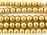Gold Glass Pearl Beads 4mm (PG19)