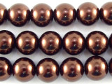 Brown Glass Pearl Beads 10mm (PG41)