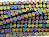 Jeweltone Electroplated Hematite Faceted Square Gemstone Beads 4mm (GS3083)