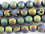 Jeweltone Electroplated Agate Round Gemstone Beads 12mm (GS3089)