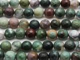 Fancy Jasper Faceted Round Gemstone Beads 10mm (GS3117)