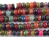 Multi-Color Rondelle Agate Gemstone Beads 8mm (GS3119)