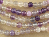 Purple Fluorite Round Gemstone Beads 6.5mm (GS3122)