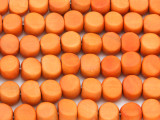 Orange Tabular Wood Beads 9mm - Indonesia (WD251)