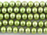 Green Irregular Round Pearl Beads 7mm (PRL139)
