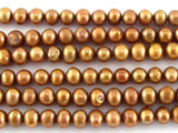 Copper Potato Pearl Beads 4mm (PRL141)
