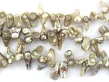 Metallic Irregular Chip Pearl Beads 15mm (PRL147)