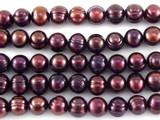 Metallic Purple Potato Pearl Beads 7mm (PRL150)