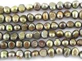Metallic Irregular Pearl Beads 6mm (PRL151)