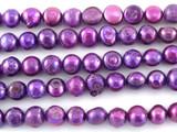 Metallic Purple Irregular Pearl Beads 6mm (PRL153)