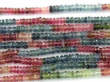 Watermelon Tourmaline Rondelle Gemstone Beads 2-3mm (GS3186)