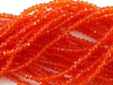 Transparent Red Crystal Glass Beads 2mm (CRY140)
