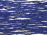 "Small Blue Glass Beads - 44"" strand (JV9051)"