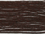 "Small Brown Glass Beads - 44"" strand (JV9052)"
