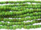 "Green Glass Beads - 44"" strand (JV9057)"