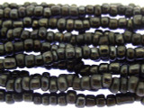 "Charcoal Gray Glass Beads - 44"" strand (JV9058)"