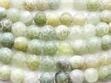 Etched Jade Round Gemstone Beads 12mm (GS3249)