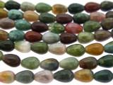 Fancy Jasper Teardrop Gemstone Beads 8mm (GS3306)