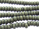 Gray Rondelle Glass Beads 7mm (JV925)
