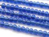 Blue Irregular Round Glass Beads 2-5mm (JV972)