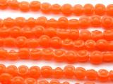 Orange Irregular Round Glass Beads 12mm (JV928)