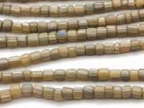 Green w/Stripes Graduated Glass Beads 3-6mm (JV995)