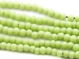 Melon Green Irregular Round Glass Beads 4-5mm (JV965)