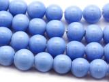 Periwinkle Irregular Round Glass Beads 9-10mm (JV1021)