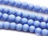 Periwinkle Irregular Round Glass Beads 6-7mm (JV1083)