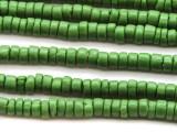 Olive Green Heishi Glass Beads 5-8mm (JV1109)