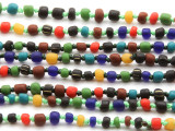 Assorted Indonesian Glass Beads 3-6mm (JV1112)