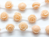 Peach Pink Rose Resin Beads 10mm (RES532)