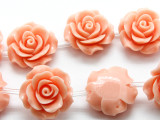 Light Pink Rose Resin Beads 20mm (RES544)
