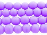 Purple Irregular Round Resin Beads 8mm (RES545)