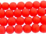Cherry Red Irregular Round Resin Beads 8mm (RES548)